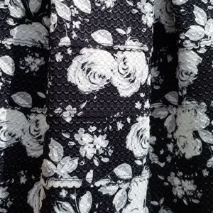 Xhilaration Skirts - Black and white flower midi skirt